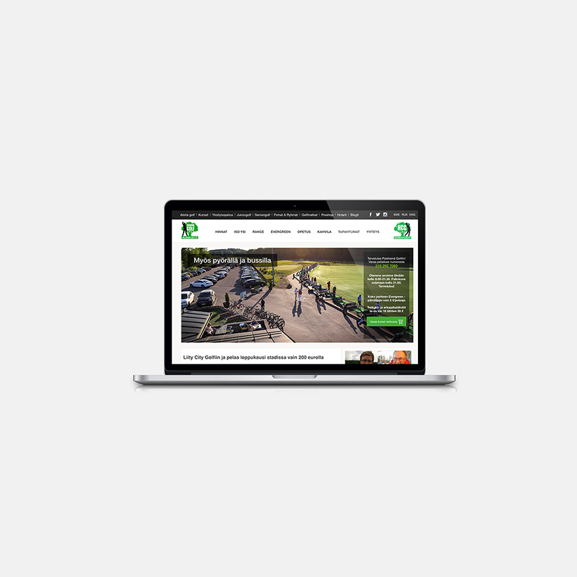 Website Design for Paloheina Golf, website planning, web page development, design, UI AND UX DESIGN