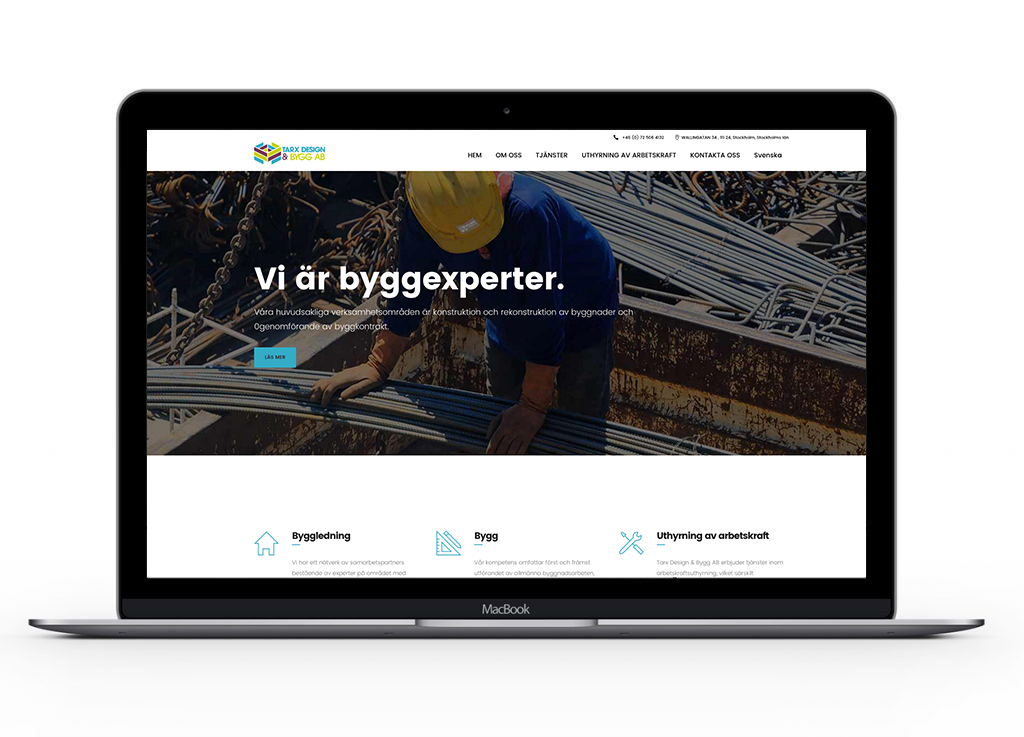 Tarx-design-&-bygg-AB-website