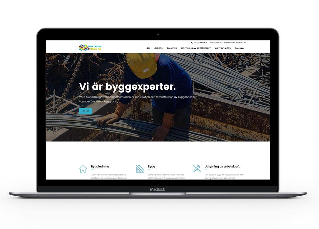 Tarx-design-&-bygg-AB-website